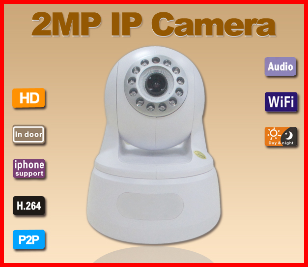 G-Eye01W-White 2.0MP P2P WIFI One-Key Setting Video Push IP Camera