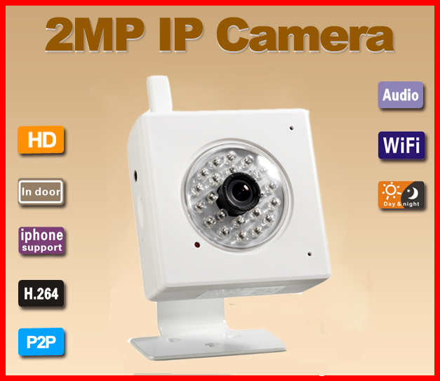 G-Eye04W 2.0MP P2P WIFI One-Key Setting Video Push IP Camera